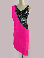 Latin Dance Dresses Women's Performance Spandex 1 Piece Sleeveless High