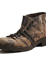 Темно-русый-Для мужчин-Для прогулок Для офиса Work & Safety Повседневный-Наппа LeatherУдобная обувь-Ботинки