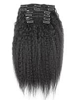 novos brasileiros ins cabelo humano clipe 100% afro excêntricas clipe ins encaracolados extensões no cabelo tece naturais cor preta 7 pcs