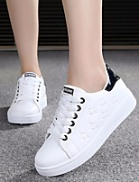 Women's Sneakers Spring Comfort PU Casual White/Green Light Pink Black/White White