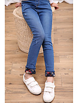 Girls' Casual/Daily Solid Jeans-Cotton All Seasons