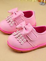 Girls' Sandals Spring Fall Comfort PU Casual Flat Heel Blushing Pink