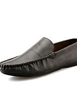 Мужские кроссовки весна осень mary комфорт pu уличный casual коричневый серый черный