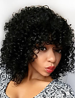 New Fashion Peruvian Virgin Hair Glueless Bob Lace Wigs Kinky Curly Lace Front Human Hair Wigs Short Bob Curly Wig for Black Woman