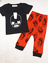 Boys' Going out Casual/Daily Sports Print Sets,Cotton Summer Short Sleeve Clothing Set