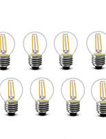 ® Shenmeile 2W E14 E27 LED Filament Bulbs G45 2 COB 200 lm Warm White Decorative AC220 AC230 AC240 V 8 pcs