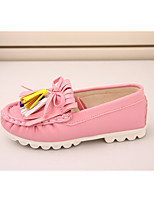 Girls' Flats Spring Fall First Walkers Leatherette Outdoor Casual Low Heel Magic Tape Blushing Pink Gray Black Walking