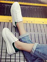 Damen-Flache Schuhe-Lässig-PU-Blockabsatz-Fersenriemen-Schwarz Grün Rosa