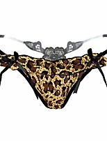 Lace Animal Print G-strings & Thongs PantiesSpandex