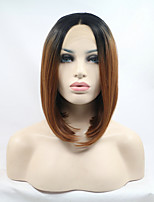 2017 Sylvia Synthetic Lace Front Wig Bob Black Auburn Ombre Heat Resistant Synthetic Wigs