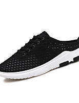 Men's Slippers & Flip-Flops Spring Summer Slingback Comfort Tulle Outdoor Casual Flat Heel Lace-up Gray Black White