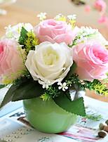 1 Une succursale Roses Fleur de Table Fleurs artificielles