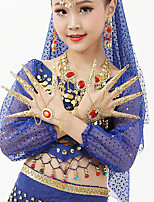 Belly Dance Dance Glove Girls Performance Metal Crystals/Rhinestones 2 Pieces Bracelets