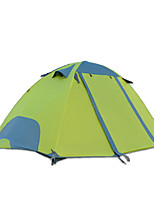 2 persons Tent Double Fold Tent One Room Camping Tent 2000-3000 mm Oxford Waterproof-Camping-Green