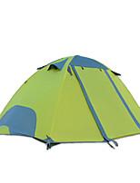 2 человека Световой тент Двойная Складной тент Однокомнатная Палатка 2000-3000 мм Оксфорд Водонепроницаемый-Походы-зеленый