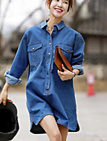 Women's Casual/Daily Simple Shirt,Solid Stand Long Sleeve Others