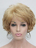 New Wavy Curly Golden Blonde Short Synthetic Hair Full Women's Thick  Wigs For Everyday