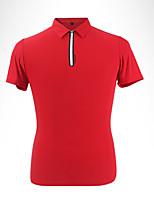 Homens Manga Curta Golfe Camiseta Polo Respirável Redutor de Suor Macio Confortável Branco Cinzento Vermelho Golfe Esportes Relaxantes