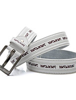 Men's casual fashion letters printed pin buckle belt