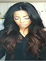 Premierwigs Human Lace Front Wig Glueless Lace Front Black To Brown Ombre Look Wavy Human Hair Celebrity Lace Wigs
