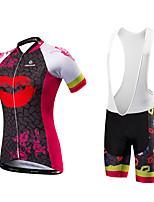 Maillot de Ciclismo con Shorts Mujer Mangas cortas Bicicleta Pecheros/Mallas Largas Con Tirantes/Corsario Tirantes Camiseta/MaillotSecado