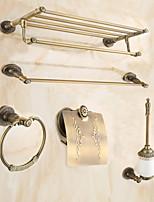 Set d'Accessoires de Salle de Bain / Laiton AntiqueLaiton /Antique