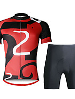 ILPALADINO Camisa com Shorts para Ciclismo Homens Manga Curta MotoRespirável Secagem Rápida Resistente Raios Ultravioleta Compressão