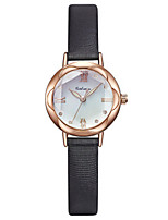 Women's Fashion Watch Quartz Genuine Leather Band Black Red Pink