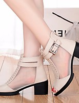 Women's Sandals Spring Comfort PU Casual Gray Beige Black