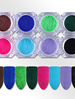 8 Boxes Fuzzy Velvet Nail Powder Ultralight 3D Pigment Flocking Nail Art Glitter Powder Decoration