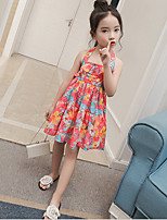 Girl's Casual/Daily Solid Dress,Cotton Rayon Summer Sleeveless