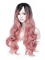Partial Distribution Type Long BODY Wave Synthetic Heat Resistant Wig Hair Likes Picture Color For Women Modeling