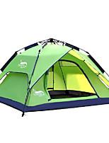 3-4 Pessoas Tenda Duplo Tenda Automática Um Quarto Barraca de acampamento 2000-3000 mm Oxford Prova de Água-Campismo-Verde