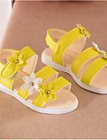 Girls' Sandals Spring Fall Comfort PU Casual Flat Heel Blushing Pink Yellow White