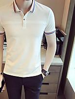 Polo Homme,Couleur Pleine Décontracté / Quotidien simple Manches Courtes Col de Chemise Coton