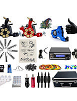 Complete Tattoo Kit 3 Machines G3Z1BRR1P Liner &  Shader Dual LED Power Supply