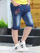 Boys' Going out Casual/Daily School Embroidered Jeans-Cotton Summer