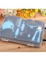 Chien Toilettage Kits de toilettage Peignes Coupe-ongles Animaux de Compagnie Accessoires de Toilettage Portable Bleu Rose
