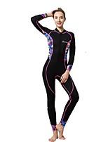 Women's Wetsuit Skin Thermal / Warm Ultraviolet Resistant Nylon Neoprene Diving Suit Long Sleeve Diving Suits-Diving Surfing Snorkeling