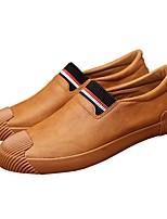 Черный Серый Желтый-Для мужчин-Повседневный-Полиуретан-На плоской подошве-Удобная обувь-Мокасины и Свитер