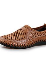 Черный Коричневый Зеленый Синий-Для мужчин-Для прогулок-Тюль-На плоской подошве-Удобная обувь-Туфли на шнуровке