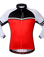 Cycling Jersey Unisex Long Sleeve Bike Sweatshirt Jersey Tops Thermal / Warm Windproof Breathable Back Pocket 100% Polyester Classic