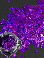 1 Bottle New Fashion Nail Art DIY Beauty Glitter Dazzling Paillette Decoration Romantic Design Dark Purple Rhombus Laser Stripe Thin Slice LW02