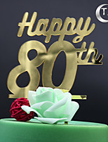 Украшения для торта Персонализированные не Монограмма Акрил День рождения Классика Пенополиуретан