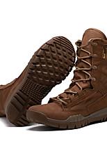 Черный Коричневый-Для мужчин-Для прогулок Для занятий спортом Work & Safety-Полотно-На низком каблуке-Удобная обувь-Ботинки