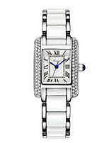 Women's Fashion Watch Quartz Alloy Band Black White Blue