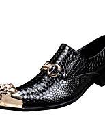 Черный-Для мужчин-Для прогулок Для офиса Повседневный Для вечеринки / ужина-Наппа LeatherФормальная обувь-Туфли на шнуровке
