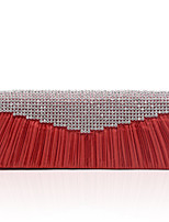 L.WEST Woman Fashion Luxury High-grade Ruffles Diamdons Evening Bag