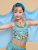 Belly Dance Veil Girls´ Performance Tulle Crystals/Rhinestones 1 Piece Headpieces Veil