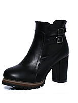 Women's Boots Spring Summer Fall Winter Club Shoes Leatherette Outdoor Office & Career Casual Chunky Heel Buckle Walking